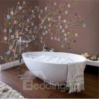 Colorful Plum Blossom Pattern Design Decorative Waterproof ...