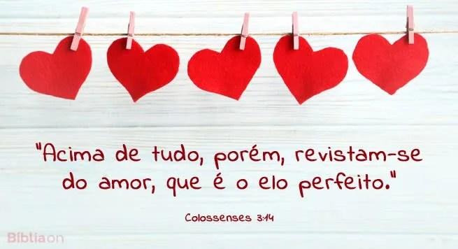"""""""Acima de tudo, porém, revistam-se do amor, que é o elo perfeito."""" Colossenses 3:14"""