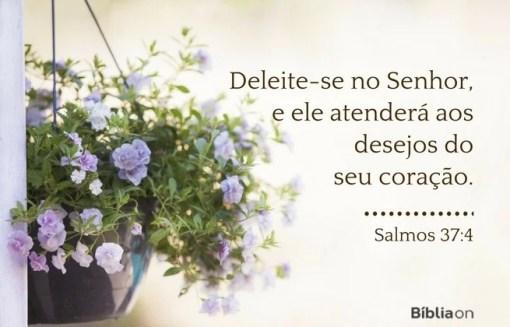 Deleite-se no Senhor, e ele atenderá aos desejos do seu coração.Salmos 37:4