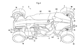 Honda files a patent for a mid-engine sports car similar