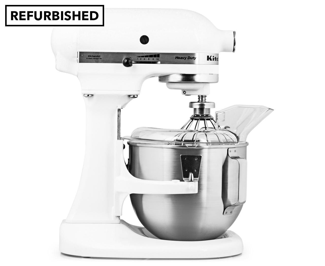 kitchen aid k5ss small appliances kitchenaid bowl-lift stand mixer refurb - white ...