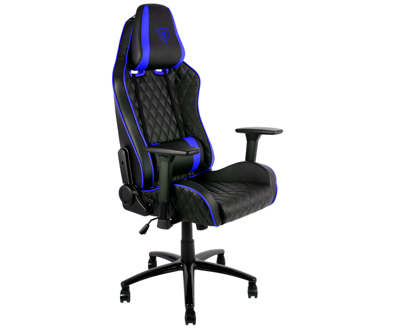 x3 office chair lime green dining chairs thunderx3 tgc31 gaming black blue scoopon shopping