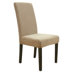 Fitted Chair Covers Ebay Toilet Lift Sure Fit Stretch Dining Cover Flax