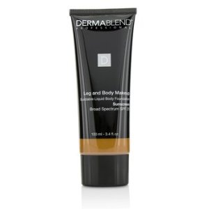 Dermablend Leg and Body Make Up Buildable Liquid Body Foundation Sunscreen Broad Spectrum SPF 25 - #Deep Golden 70W 100ml/3.4oz
