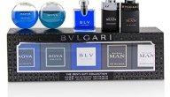 Bvlgari Miniature Coffret: Aqva + Aqva Atlantiqve + In Black + Black Cologne + BLV 5x5ml/0.17oz