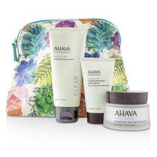 Ahava Elements Of Love Natural Love Essentials: Essential Day Moisturizer + Purifying Mud Mask + Dermud Intensive Hand Cream + Bag 3pcs+1bag