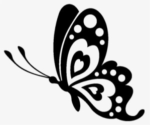 Butterfly Stencil Silhouette Drawing Black And White Butterfly Svg Free Transparent Clipart ClipartKey