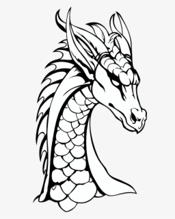 Dragon Clipart Black And White : dragon, clipart, black, white, Dragon, Black, White, Background, ClipartKey