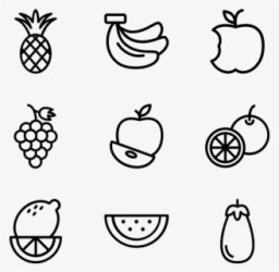 Free Fruits Black And White Clip Art with No Background ClipartKey