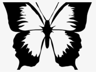 Free Butterfly Black And White Clip Art with No Background ClipartKey