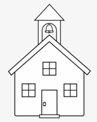 Free School Black And White Clip Art with No Background ClipartKey