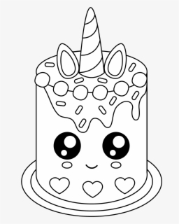 Free Cute Unicorn Cake Unicorn Cake Coloring Pages Free Transparent Clipart Clipartkey