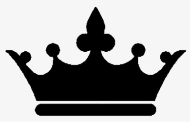 Free King Crown Black And White Clip Art with No Background ClipartKey