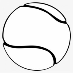 Free Tennis Black And White Clip Art with No Background ClipartKey