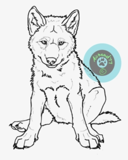 Wolf Pup Drawing : drawing, Puppy, Lineart, Realistic, Drawings, Transparent, Clipart, ClipartKey