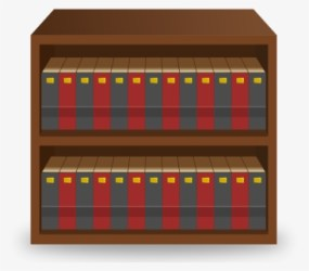 Transparent Bookshelf