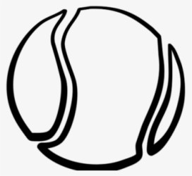 Free Tennis Ball Black And White Clip Art with No Background ClipartKey