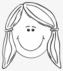 Free Girl Black And White Clip Art with No Background ClipartKey