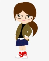 Photos Girl With Glasses Teacher Clipart Brown Hair Free Transparent Clipart ClipartKey