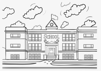 Building School Clip Art High School Clipart Black And White Free Transparent Clipart ClipartKey