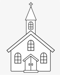 Free Church Black And White Clip Art with No Background ClipartKey