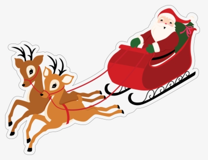 Free Santas Sleigh Clip Art With No Background Clipartkey