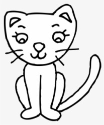 Free Cats Black And White Clip Art with No Background ClipartKey