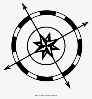 Compass Rose For Coloring , Free Transparent Clipart