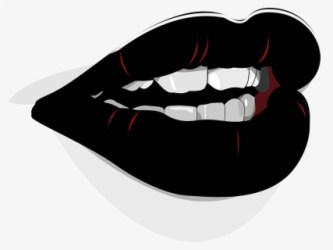 Free Mouth And Tongue Black And White Clip Art with No Background ClipartKey