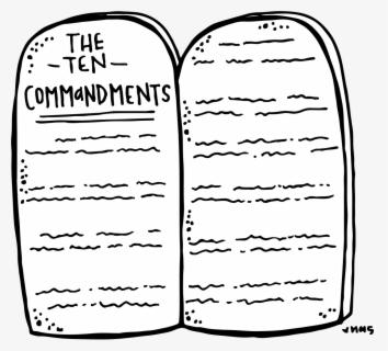 Roman Numerals Ten Commandments Clipart Stone Tablet