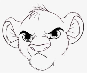 Transparent Lion King Clipart Black And White Simba Lion King Drawing Free Transparent Clipart ClipartKey