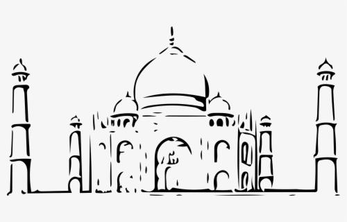 Taj Mahal Clipart Black And White , Free Transparent