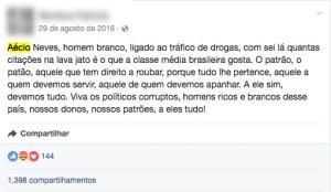 comentário facebook