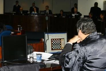 desembargador TJ-BA jogando xadrez - Haroldo Abrantes / Agência A Tarde