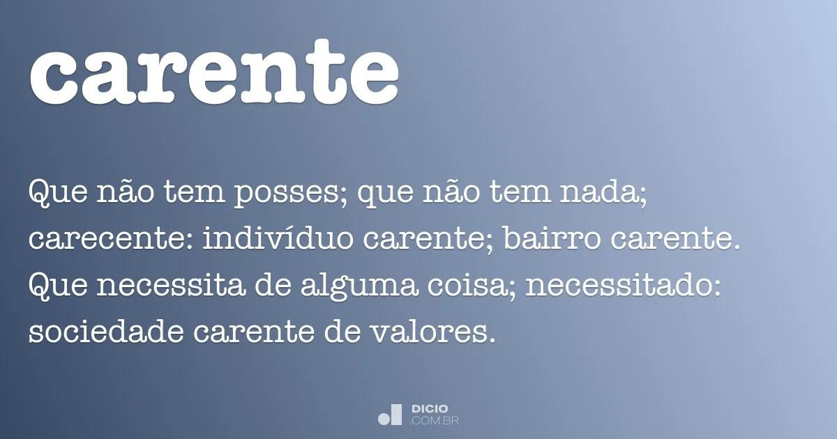 Carente  Dicio Dicionrio Online de Portugus