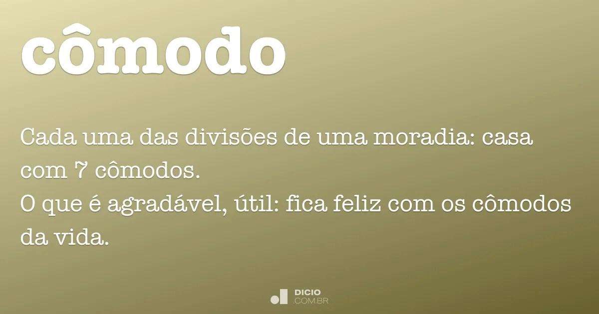 Cmodo  Dicio Dicionrio Online de Portugus