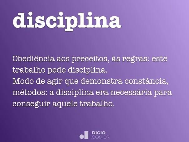 Disciplina  Dicio Dicionrio Online de Portugus