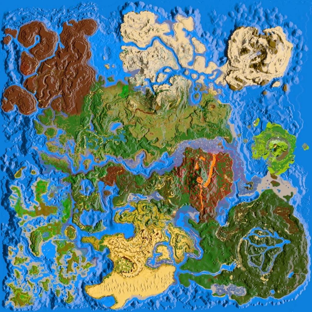 方舟生存進化全地圖列表 本體+DLC地圖一覽_水晶島嶼地圖_逗游網