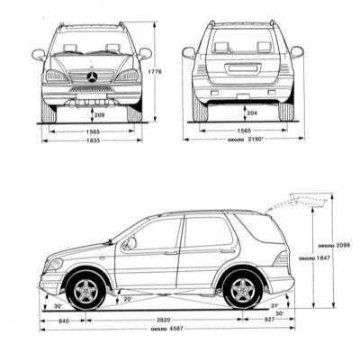 Mercedes-Benz M-Class 1999 года, 3.2 литра, 4 вд