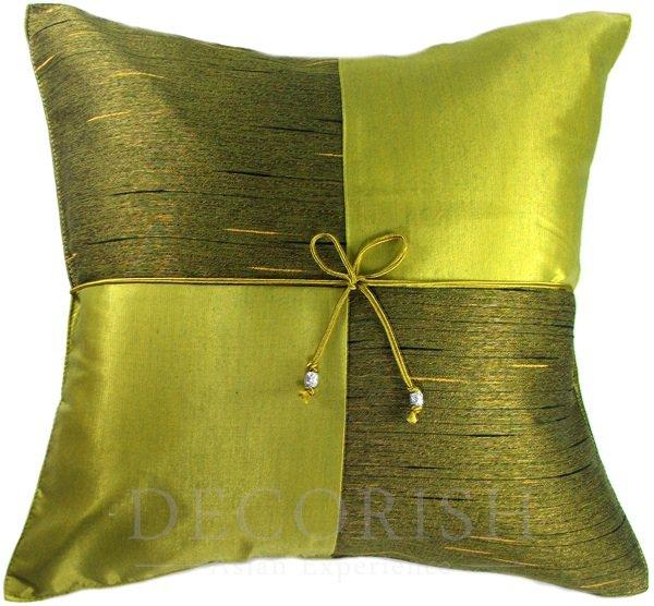 lime green silk sofa bed decorative