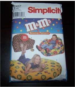 Vintage MMs Candy Beanbag Chair Pattern Simplicity 9007