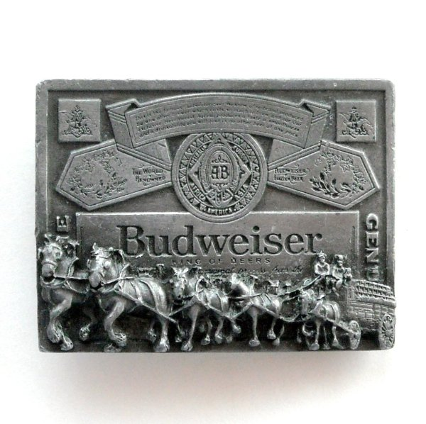 King Of Beers Budweiser Great American Pewter Alloy 3d