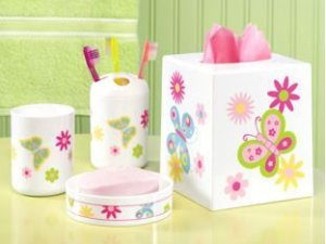 Butterfly Bathroom Sets Accessories  Kids Art Decorating Ideas