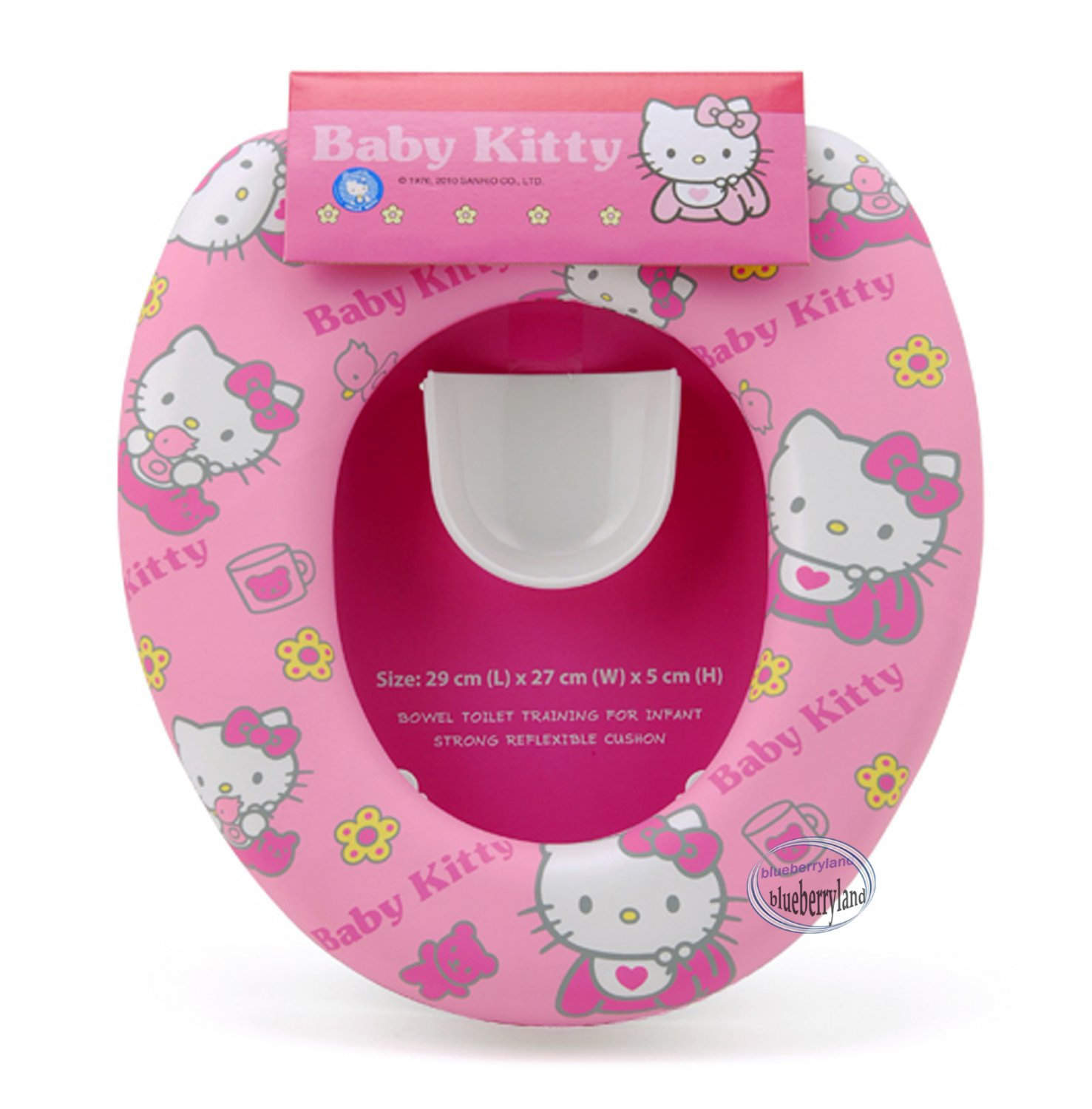 hello kitty potty chair face down sanrio baby soft padded toilet training seat