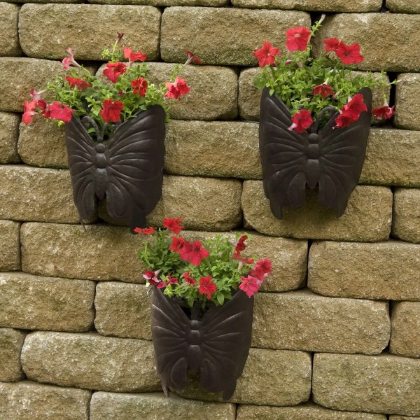 Large Metal Wall Planters Outdoor