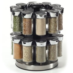 Revolving Spice Racks For Kitchen Trash Can Pull Out Kamenstein Two Tier Rotating Rack