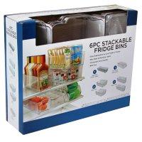 Daily Chef Fridge Stackable Bins Kitchen Storage Bins