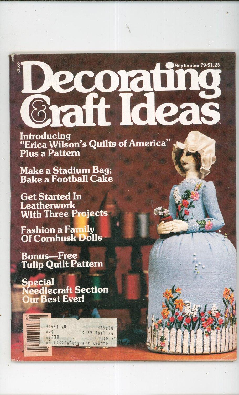 Decorating  Craft Ideas Magazine September 1979 Vintage Back Issue Not PDF