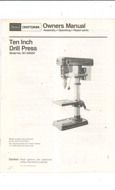 Sears Drill Press Belt