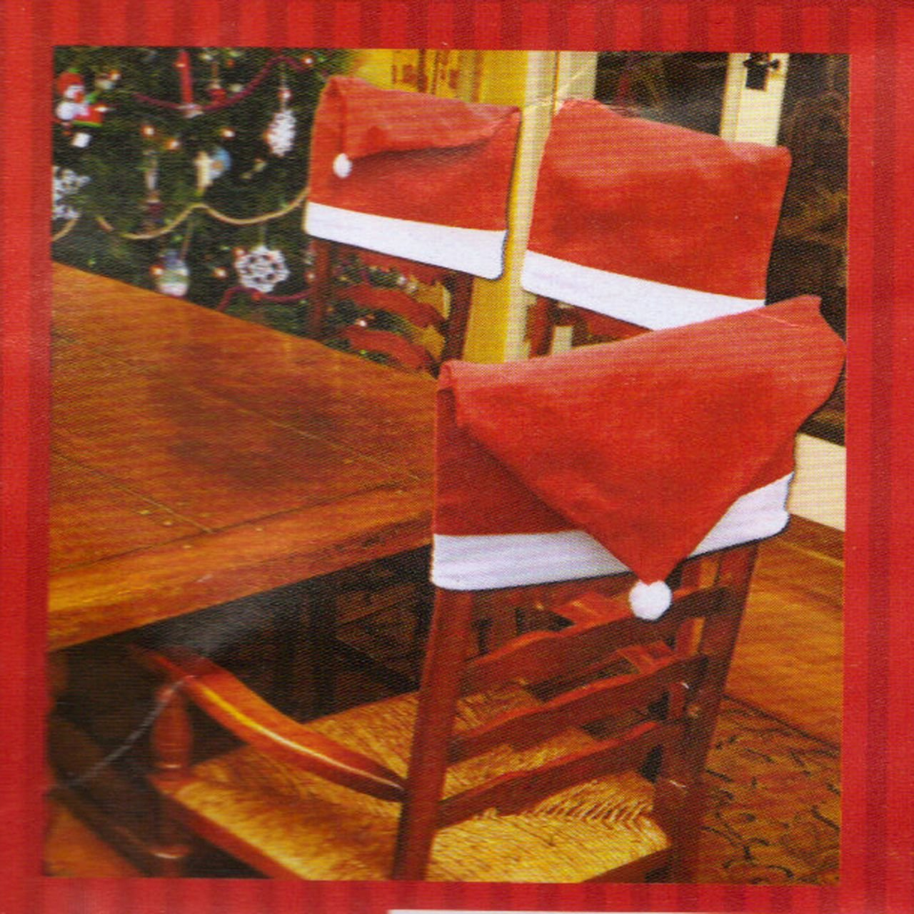 dollarama christmas chair covers folding chairs and table target santa hat set of 4
